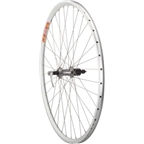 Quality Wheels Pavement Rim Brake Rear Wheel 700c 36h Deore LX T670 / Velocity DYAD Silver