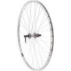 Quality Wheels Value XL Rear Wheel 700c Shimano 130mm Hub / Velocity NoBS Rim, Raw, 36h