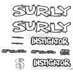 Surly Instigator Frame Decal Set with Headbadge: White