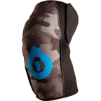 SixSixOne Comp All Mountain Protective Knee Pad: Gray Camo