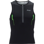 Zoot Ultra Tri Tank Top: Black/White/Green~ SM