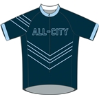 All-City Chevron Jersey: Navy~ LG