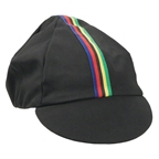 Pace Traditional Cycling Cap: Black