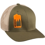 Cogburn Mesh Back Cap: Moss/Orange~ One Size Fits All
