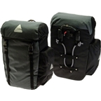 Axiom Seymour DLX 45 Liter Pannier Set: Gray/Black