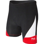 "TYR Women's 6"" Carbon Tri Short: Black/Red"