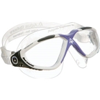 Aqua Sphere Vista Lady Goggles: White/Gray/Purple with Clear Lens