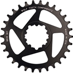 Wolf Tooth Components 26t Direct Mount Drop-Stop Chainring for SRAM BB30 Short Spindle Cranks, Black