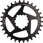 Wolf Tooth Components 28t Direct Mount Drop-Stop Chainring for SRAM BB30 Short Spindle Cranks, Black
