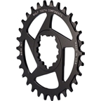Wolf Tooth Components 34t Direct Mount Drop-Stop Chainring for SRAM BB30 Short Spindle Cranks, Black