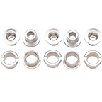 Problem Solvers Single Chainring Bolts Silver Chromoly