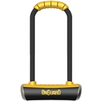 "OnGuard PitBull U-Lock with Bracket: 4.5 x 11.5"", Black/Yellow"