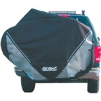 Skinz Hitch Rack Rear Transport Cover: Fits 2-4 Bikes; Black; Large #RTC200
