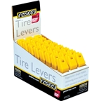 Pedro's Tire Levers 24 Pack Tire Lever Counter Display, Yellow