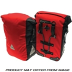 Axiom Monsoon Aero DLX-35 Waterproof Panniers Red/Black