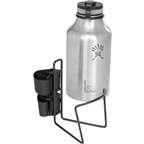 "TwoFish Growler QuickCage 64oz Water Bottle Cage: 5.0"" outer diameter Bottles (No Bottle included) Vinyl Coated Black"
