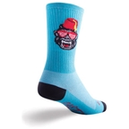 "SockGuy Party Animal 6"" Crew Sock: Blue LG/XL"