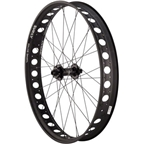 "Quality Wheels Front Wheel Fat Disc 26"" 142mm x 15mm 32h Hope FatSno / Surly Rolling Darryl / DT Competition All Black"