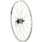 "Quality Wheels Pavement Front Wheel 26"" 32h Shimano Dynamo / Mavic XM317 / DT Champion All Silver"