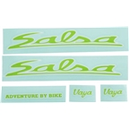 Salsa Vaya Travel Decal Set Green