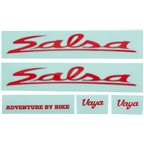 Salsa Vaya Travel Decal Set Red
