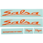 Salsa Vaya Travel Decal Set Orange