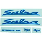 Salsa Vaya Travel Decal Set Blue