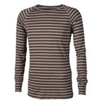 Surly Raglan Stripe Shirt: Green/Brown