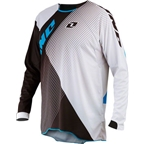 ONE Industries Gamma Czar Long Sleeve Jersey: Black/Cyan