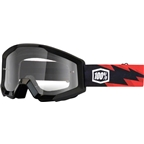 100% Strata Goggle, Slash with Clear Lens