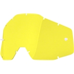 100% Racecraft/Accuri/Strata Replacement Lens, Yellow Anti-Fog Lens