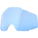 100% Racecraft/Accuri/Strata Replacement Lens, Blue Anti-Fog Lens