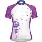 Primal Wear Women's Paardebloem Cycling Jersey: White/Purple