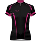 Primal Wear Women's Tungsten Evo Cycling Jersey: Black/Pink