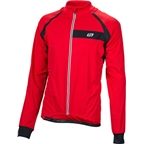 Bellwether Men's Coldfront Convertible Long Sleeve Cycling Jersey: Red