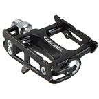 Genetic Pro Track Pedals, Black With Black Cage