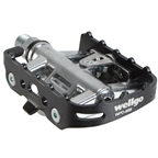 Wellgo WPD-95B Clipless/Cage Pedals, Black/Silver
