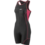 Louis Garneau Comp Women's Tri Suit: Black/Pink