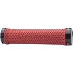 Chromag Basis Grips: Red Grips Black Clamps