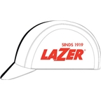 Lazer Cycling Cap: White with Black Line