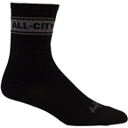 All-City Fast is Forever Mid Sock: Black/Gray