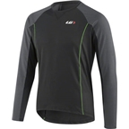 Louis Garneau HTO MTB Long Sleeve Jersey: Black/Gray