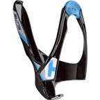 Elite Cannibal Fiberglass Bottle Cage: Black/Blue Graphics