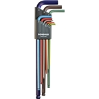 Bondhus Ball End L Hex Wrench Set: 1.5mm - 10mm, Colorguard Finish