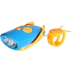 Hornit Mini Cycle Horn with Remote Trigger and Batteries: Blue/Orange