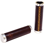 PDW Bourbon Leather Straight Grips Brown