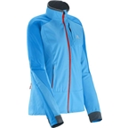 Salomon Women's Momentum Softshell Jacket: Blue Line/Dark Cloud