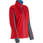 Salomon Women's Equipe Softshell Jacket: Poppy/Dark Cloud