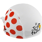 Headsweats CoolMax Le Tour de France Shorty Headband: White with Red Polka Dots