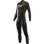 TYR Hurricane Cat 5 Wetsuit: Black/Red